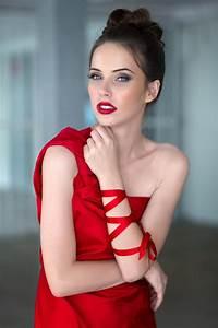 Wallpaper, Women, 500px, Model, Long, Hair, Red, Dress