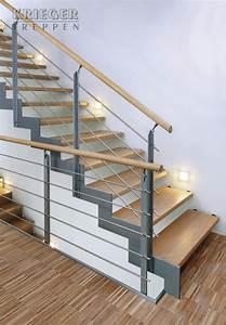 Stahl Holz Treppe : stahl holztreppen von krieger treppen ~ Markanthonyermac.com Haus und Dekorationen