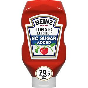 Heinz No Sugar Added Tomato Ketchup, 29.5 oz Squeeze ...