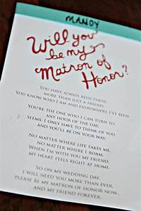 matron of honor duties advice please With asking maid of honor letter