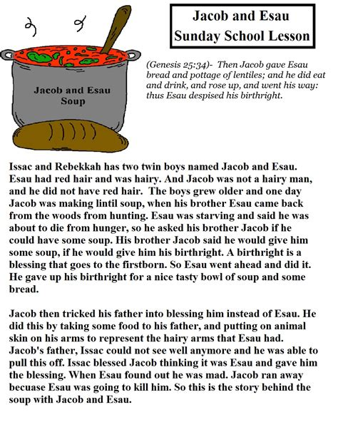 jacob and esau sunday school lesson 601 | Jacob%20and%20Esau%20Sunday%20School%20Lesson