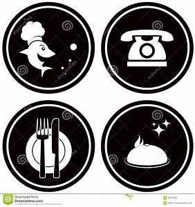 Black icons for fish menu stock vector. Illustration of ...