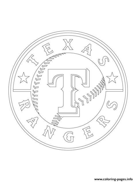 texas rangers logo mlb baseball sport coloring pages printable