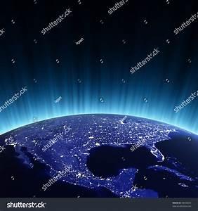 Usa Night Maps Nasa Imagery Stock Illustration 58698043 ...