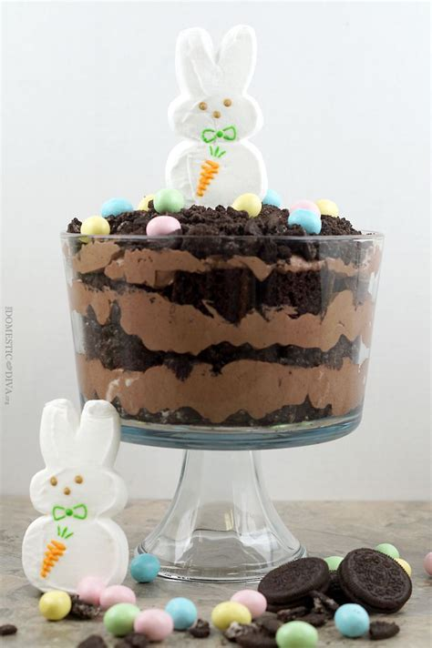 easter trifle easter bunny dirt cake trifle recipe the domestic diva