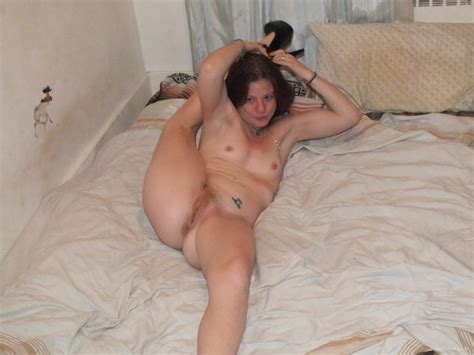 Mom Posing On Bed
