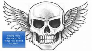How to Draw a Skull with Wings (Part 1 of 2) - YouTube