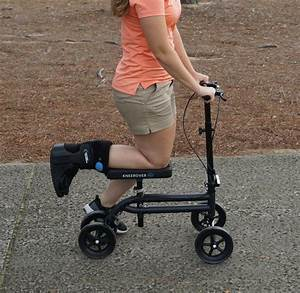 Kneerover Steerable Knee Scooter Knee Walker In Green