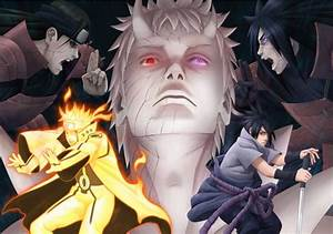 Imagens De Naruto E Sasuke Vs Jinchuriki Obito Videojogo