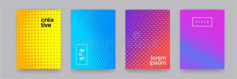 Abstract Gradient Color Pattern Texture For Book Cover