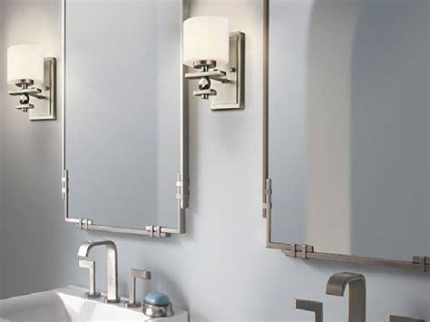 15 photo of brushed nickel wall mirror for bathroom