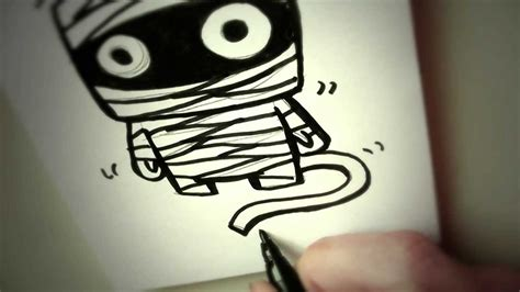 How To Draw A Cartoon Mummy By Garbi Kw, Easy Drawing