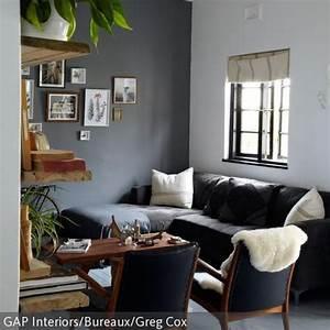 Graues Sofa Kombinieren : schwarzes sofa mit blauen sesseln w nde und sofas ~ Michelbontemps.com Haus und Dekorationen