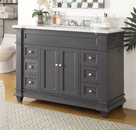 shaker deep gray single sink bathroom vanity gray