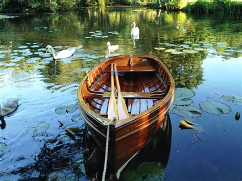 Row Boat Engine by Wooden Clinker Boat Small Boats For Sale Rowing
