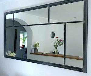 Grand Miroir Industriel : miroir industriel grand format joli bois ~ Melissatoandfro.com Idées de Décoration