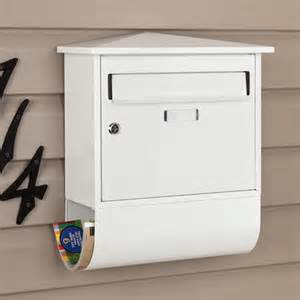 Signature Hardware Castle Locking Wall Mount Mailbox with Newspaper Roll