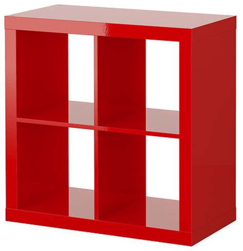 Stocking Fireplace by Expedit Shelving Unit High Gloss Red Contemporary