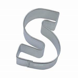 alphabet letter s cookie cutter 2 3 4 inch With individual letter cookie cutters