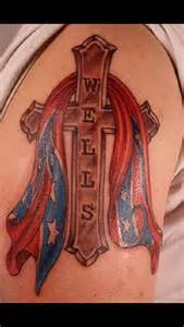 Rebel Flag Cross Tattoo
