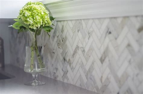 marble herringbone backsplash favorite pins of the day herringbone studio style blog