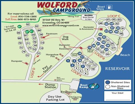 Site Map  Colorado Camping, Campgrounds, Reservoir
