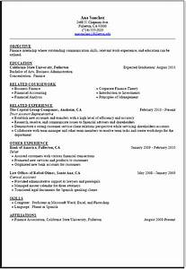 internship resume sample career center csuf With college student resume for internship