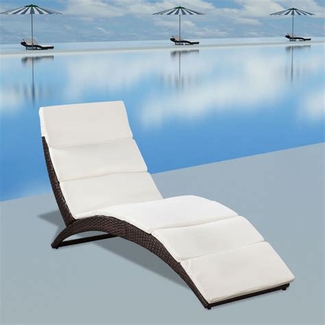 la chaise longue boutique en ligne la boutique en ligne vidaxl chaise longue pliable avec coussin en poly rotin marron vidaxl fr