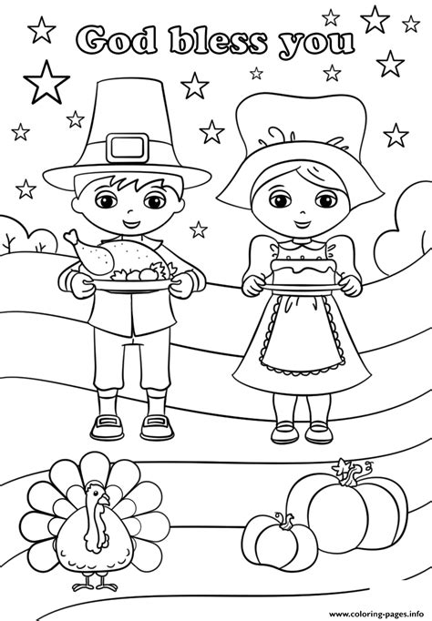 god bless  thanksgiving coloring pages printable