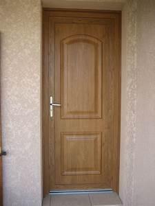 portes d39entree alu pvc bois With pose d une porte d entree en bois