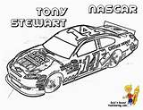 Coloring Nascar Race Stewart Printable Boys Tony Cars Colouring Sheets Driver Yes Avengers Force sketch template
