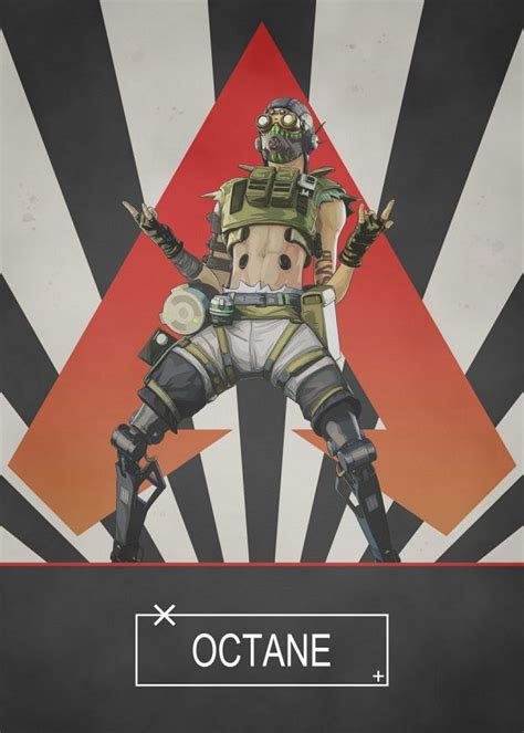 Apex Legends Radial Characters Octane Displate Artwork By
