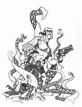 Tentacles Hellboy Drawing Vs Voya Deviantart Getdrawings sketch template