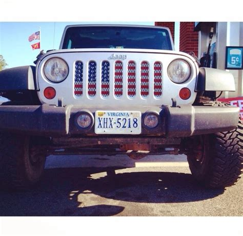 american flag jeep grill american flag grill insert jeepin 39 pinterest flags