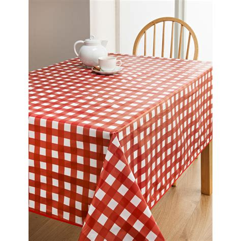 wipe clean table cloth pvc wipe clean tablecloth red spots kitchen b m