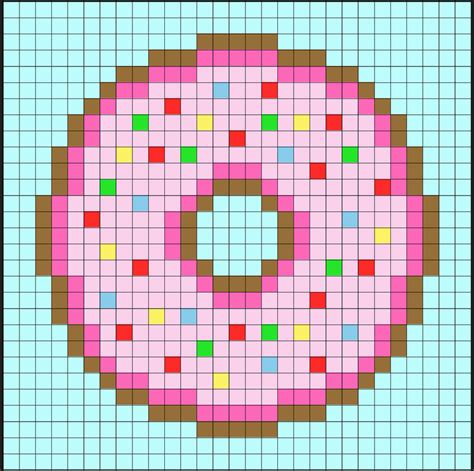 Easily create sprites and other retro style images with this drawing application. Perler Bead Donuts - Pixel Art Shop