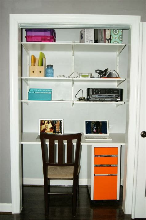 projects building a closet desk for the home