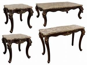 Netherlands coffee table sofa table and end tables 4 for Victorian coffee table set