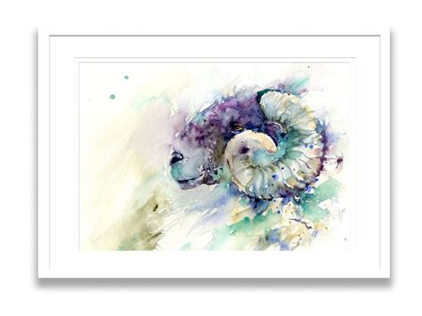 limited edition print  original ramsheep painting