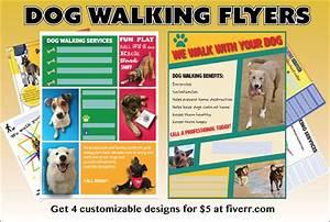 effective dog walking flyer design and content tips With best dog walking websites