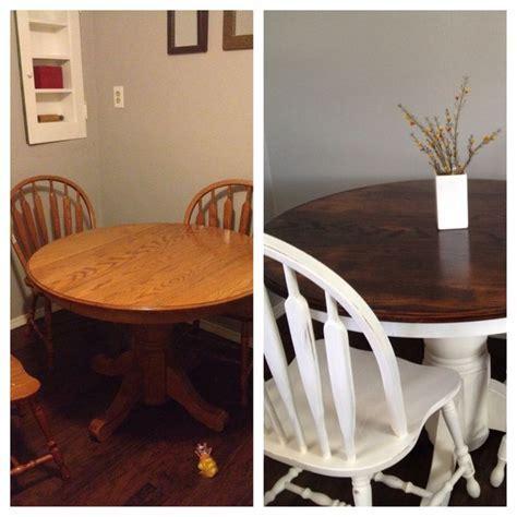 17 Best ideas about Painted Oak Table on Pinterest   Oak