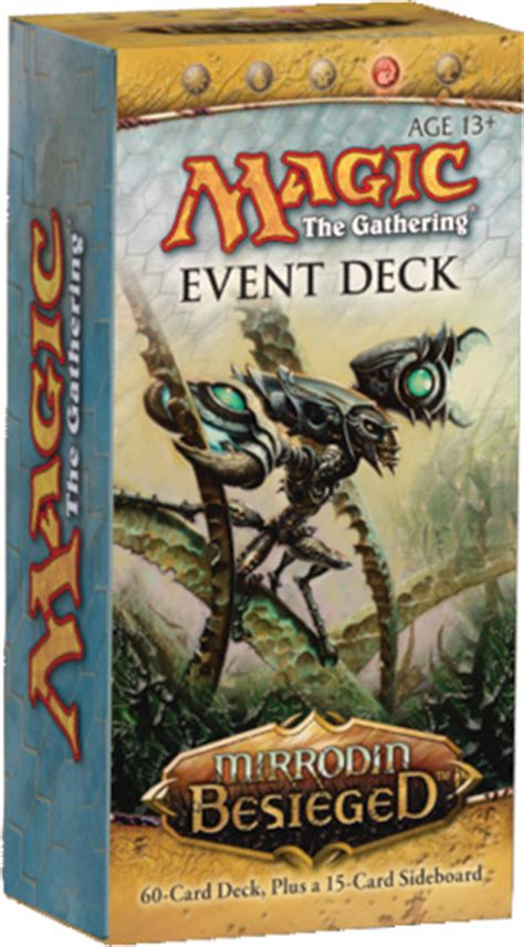 magic the gathering new phyrexia event deck mirrodin besieged into the breach review part 1 of 2