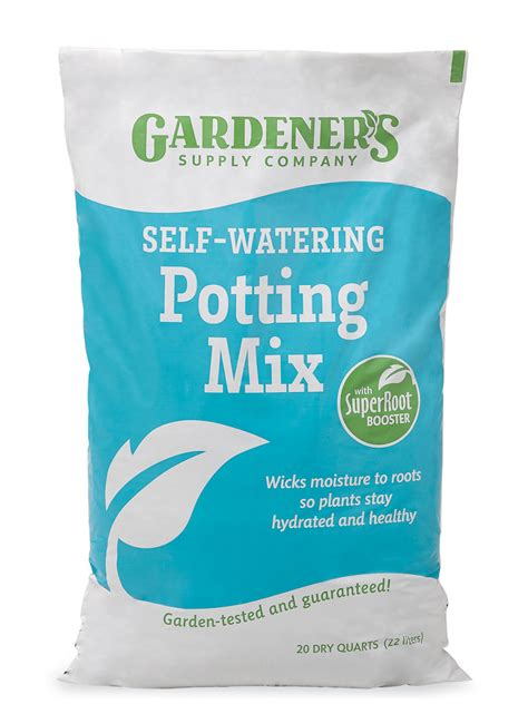 Selfwatering Potting Soil Mix With Root Booster