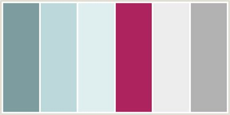 colors that go with magenta colorcombo128 with hex colors 7d9c9f bdd8da dfeff0