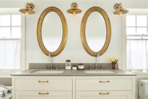 White Vanity With Brass Pulls