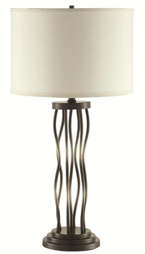 Table Lamps Metal Sculpture Base Table Lamp   Quality furniture at affordable prices in