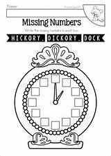 Hickory Dickory Rhyme Rhymes Rhyming Teacherspayteachers sketch template