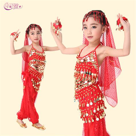 Belly dance costumes for kids girls summer outfits clothing set children vestidos roupas ...