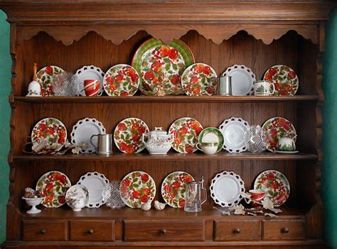 China Hutch Ideas by Displaying And Decorating With China For The Seasons And