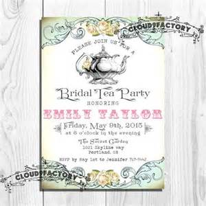 tea invitations bridal shower digital diy